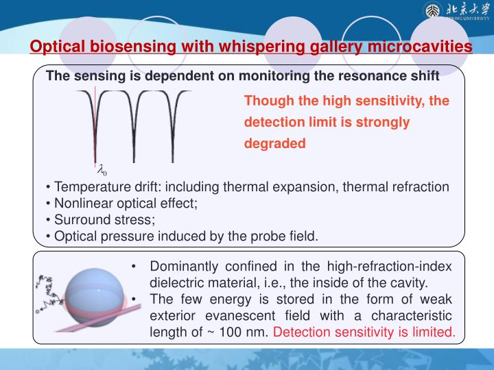 Optical biosensing with whispering gallery microcavities