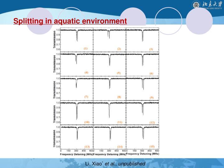 Splitting in aquatic environment