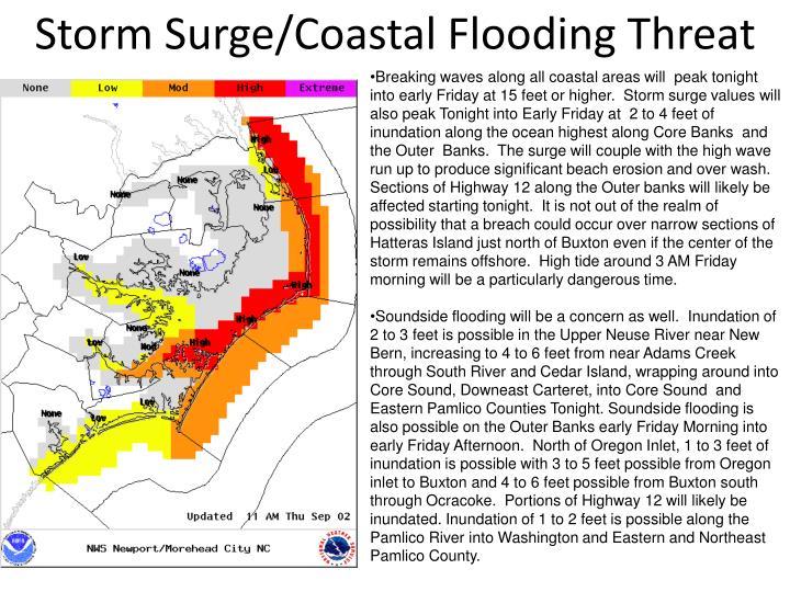Storm Surge/Coastal Flooding Threat