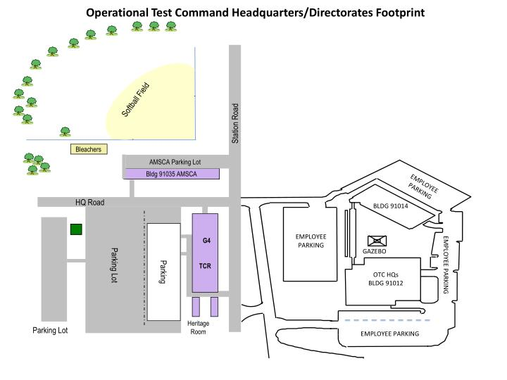 Operational Test Command Headquarters/Directorates Footprint