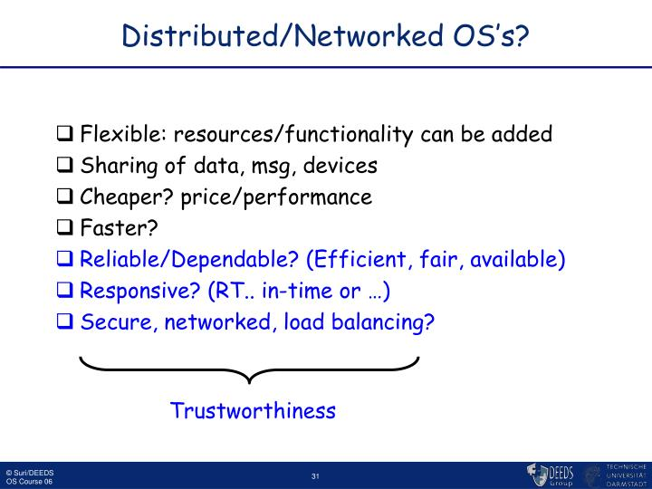 Distributed/Networked OS's?