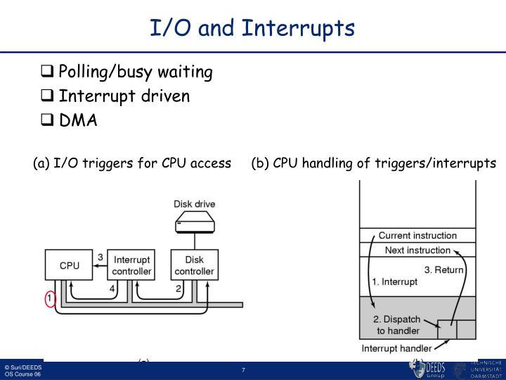 I/O and Interrupts