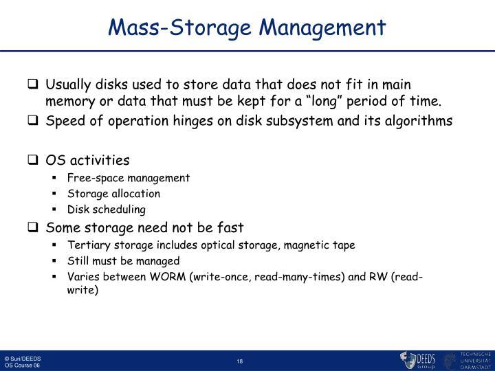 Mass-Storage Management