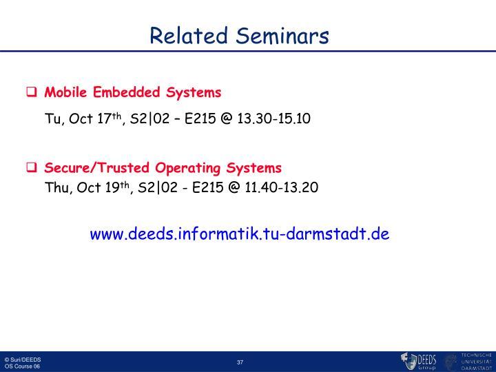 Related Seminars