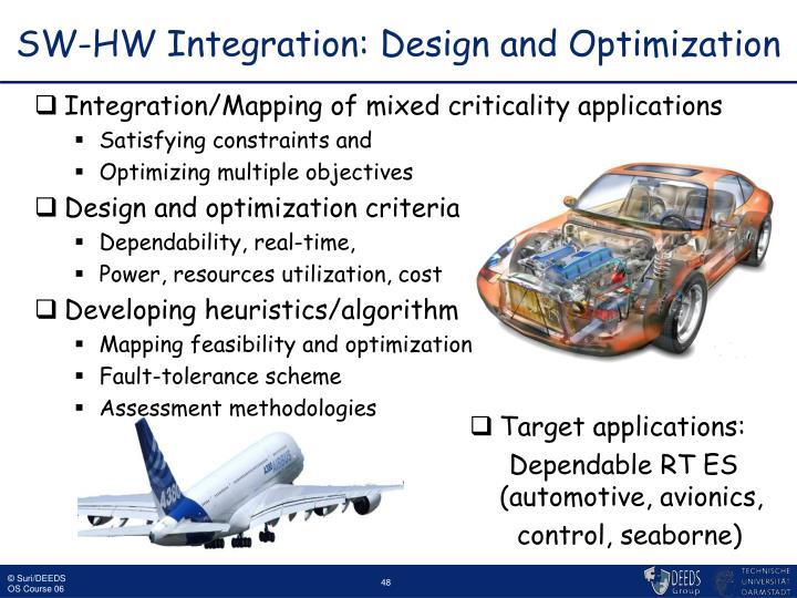 SW-HW Integration: Design and Optimization