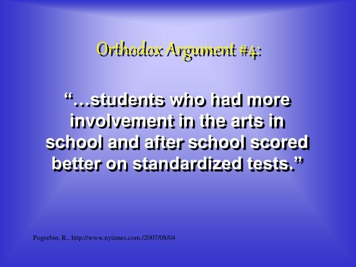 Orthodox Argument #4: