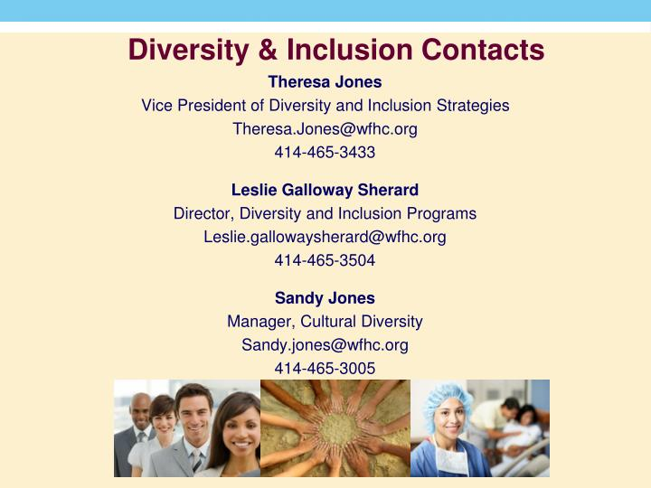 Diversity & Inclusion Contacts