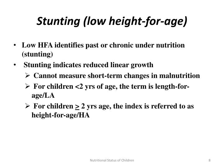 Stunting (low height-for-age)