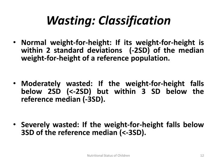 Wasting: Classification