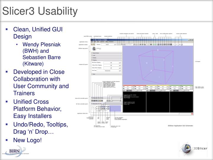 Slicer3 Usability