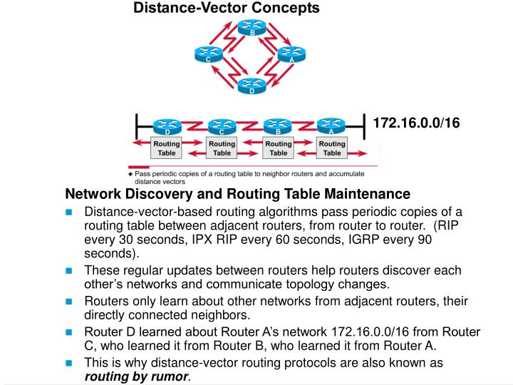 Network Discovery and Routing Table Maintenance
