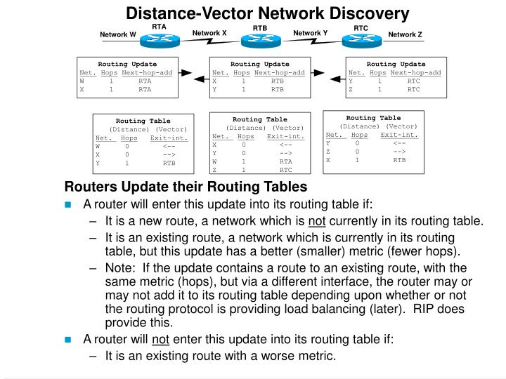 Distance-Vector Network Discovery