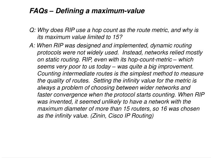 FAQs – Defining a maximum-value