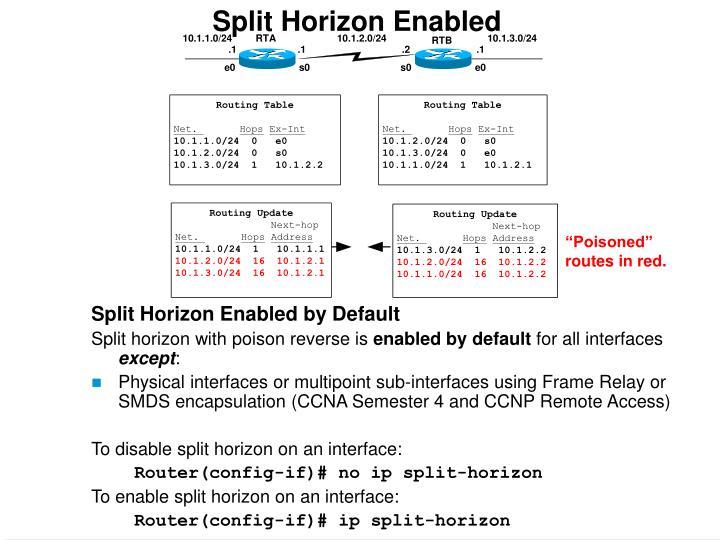 Split Horizon Enabled
