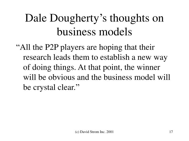 Dale Dougherty's thoughts on business models