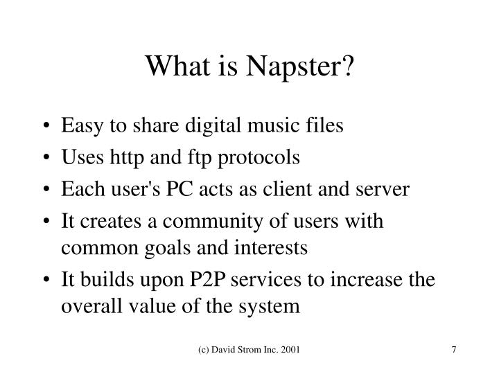 What is Napster?