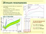 di muon resonances