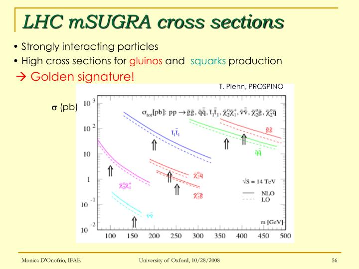 LHC mSUGRA cross sections