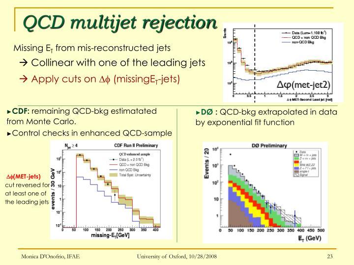 QCD multijet rejection