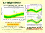 sm higgs limits