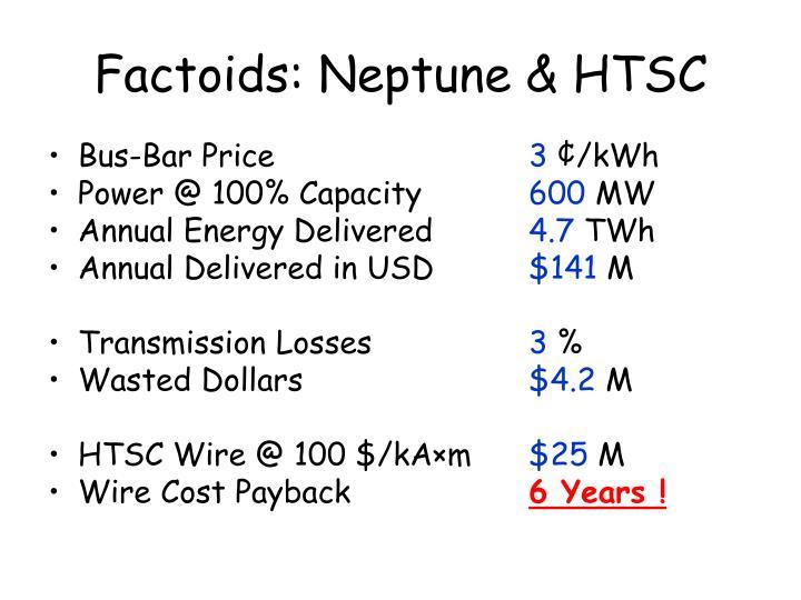 Factoids: Neptune & HTSC