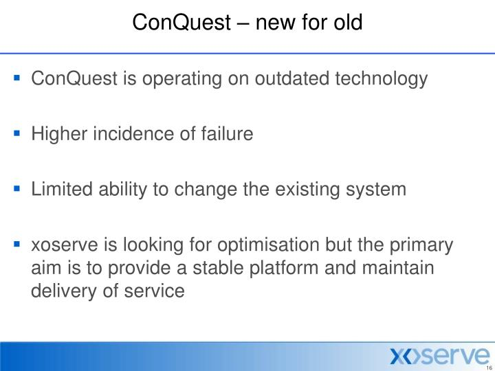 ConQuest – new for old