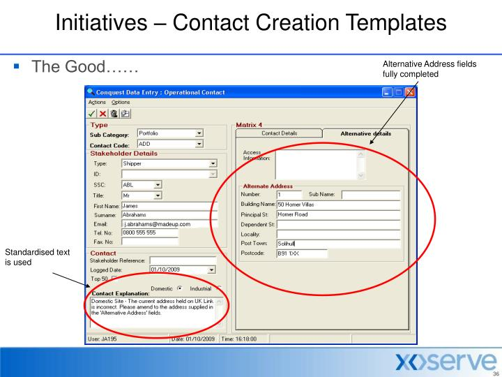 Initiatives – Contact Creation Templates