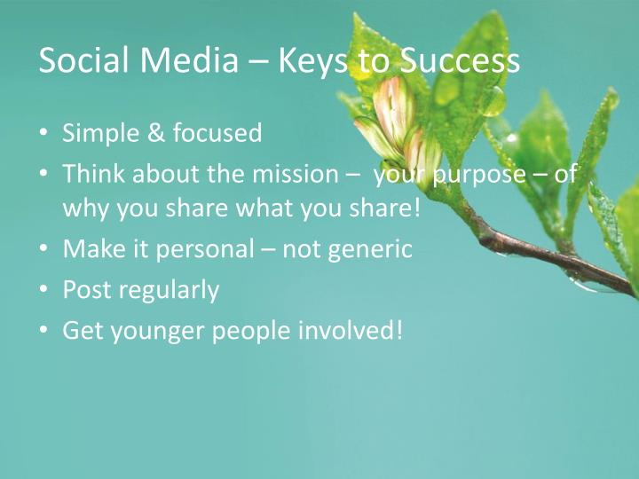 Social Media – Keys to Success