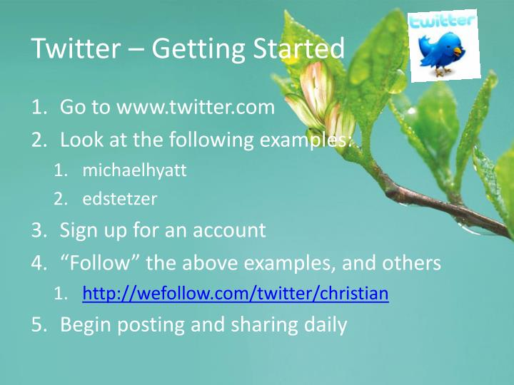 Twitter – Getting Started
