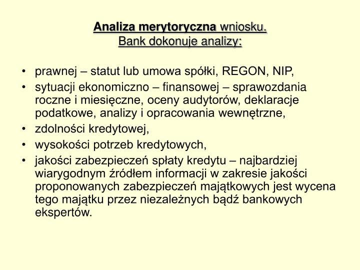 Analiza merytoryczna