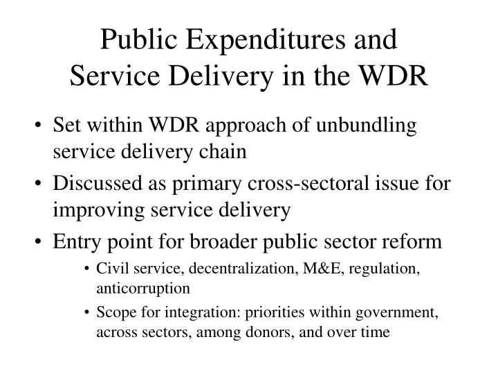 Public Expenditures and