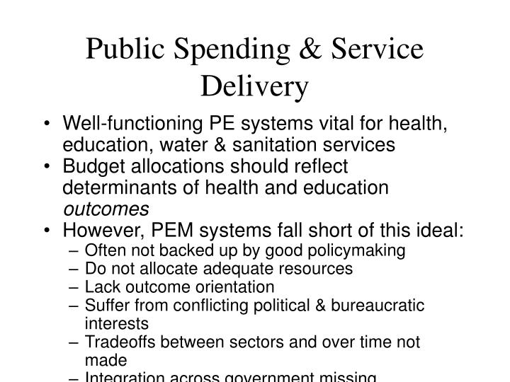 Public Spending & Service Delivery