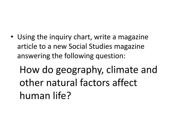 Using the inquiry chart