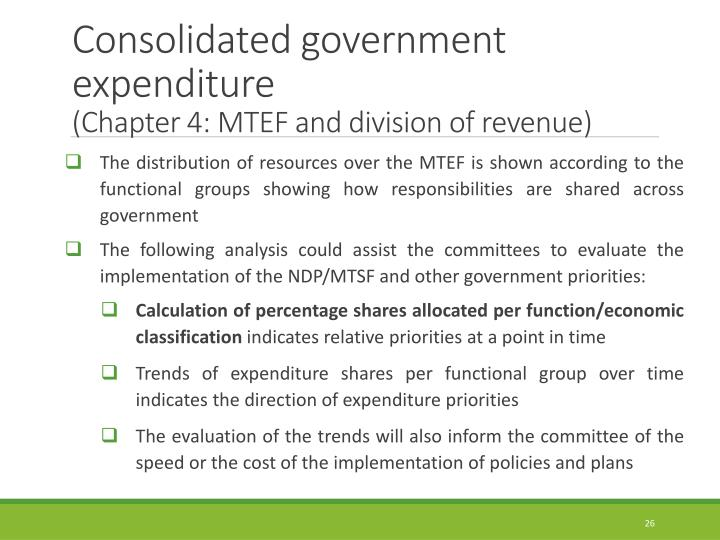 Consolidated government expenditure