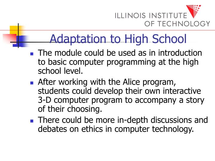 Adaptation to High School