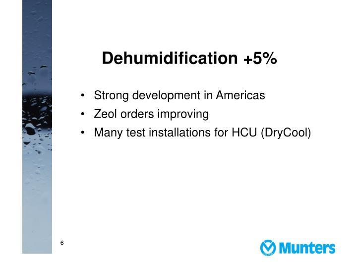 Dehumidification +5%
