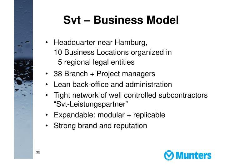 Svt – Business Model