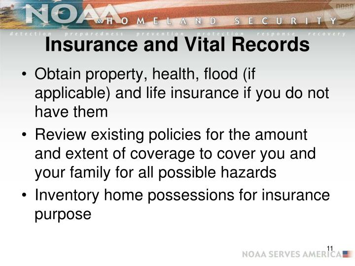 Insurance and Vital Records