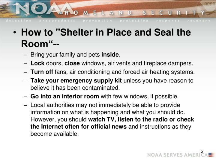 "How to ""Shelter in Place and Seal the Room""--"