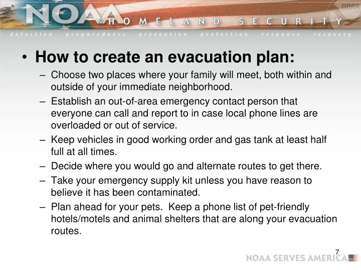 How to create an evacuation plan: