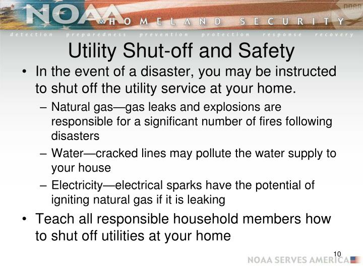 Utility Shut-off and Safety