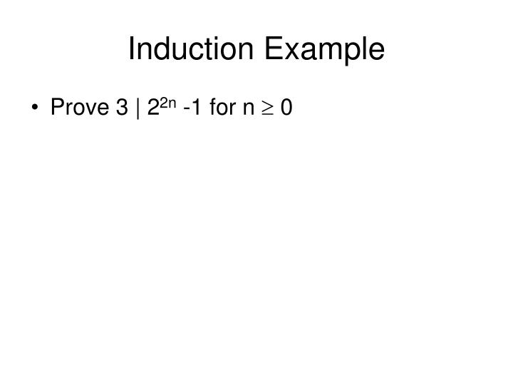 Induction example