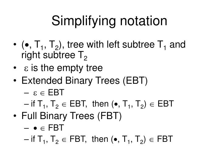 Simplifying notation