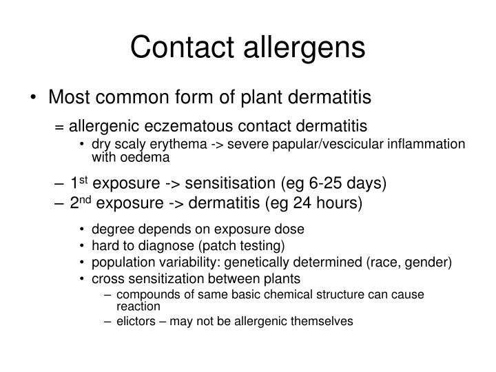 Contact allergens