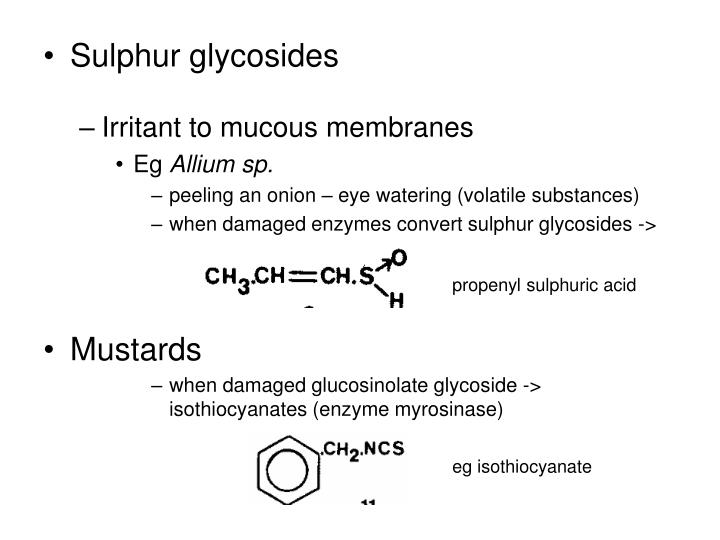 Sulphur glycosides