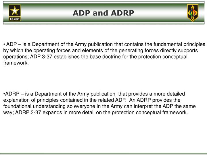 ADP and ADRP