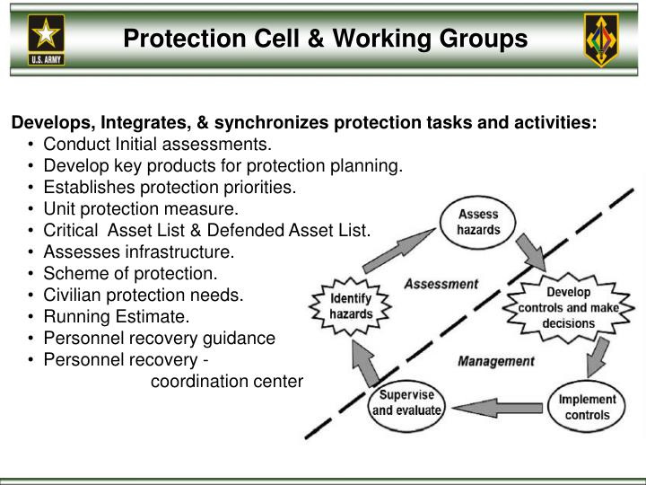 Protection Cell & Working Groups