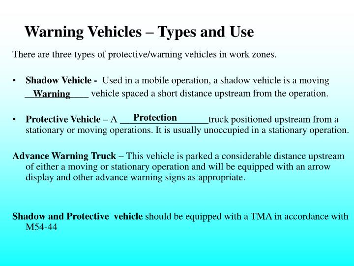 Warning Vehicles – Types and Use
