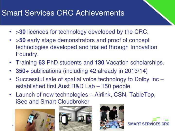 Smart Services CRC Achievements