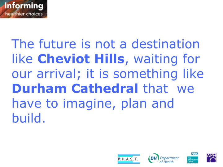 The future is not a destination like
